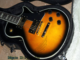 Custom Shop Black Yellow burst Electric Guitar Free shipping wholesale guitars from china