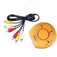 Input Selector Livraison gratuite New Audio Vidéo switch AV RCA 3-1 Connecteur Commutateur