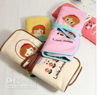 Wholesale New Fancy cute little artist bind belt high capacity pen bag pencil bag