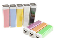 Wholesale 2600mAh Portable Power bank Battery charger for iphone for ipad smartphones mp3 mp4 digital dv camera portable emergency power bank
