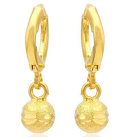 alluvial gold - 6 off new Alluvial gold ball earrings earrings K gold plated bridal wedding earrings jewelry jewellery hot pairs