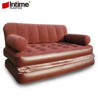 Wholesale Yingtai flock printing sofa bed multifunctional inflatable sofa