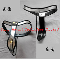 Female Chastiy Belt Stainless Steel Wholesale - Female Adjustable Curve-T Stainless Steel Premium Chastity Belt with One Locking Cover Removable Sex Toys for Women