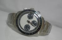 Luxe Mens Swiss ETA 7750 Montre chronographe Sport Montres modèle Vintage Perpetual Automatique Hommes