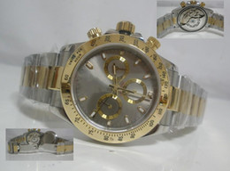 Wholesale Luxury Mens Swiss Eta model Stainless amp Gold Perpetual Chronograph Sport Men s Watches