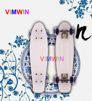 Cheap PP material penny skateboards Best 22 inch White penny board