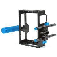 For Camera dslr rig - Aluminum DSLR Camera Cage Kit for Canon D mark II D D w mm Rod RIG