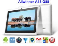 Wholesale 7 quot tablet pc Allwinner A13 Q88 android Multi Touch GHz MB GB Power supply