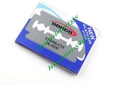 Bonne qualité 100 pièces par paquet Dorco Platnum ST300 en acier inoxydable double lame lame de rasoir de sécurité, livraison gratuite