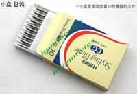 best razor blades - Best Quality Feather Blades Professional Hair Razor Blades Stainless Steel Blades Double Sided Cut Blade