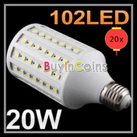 20x E27 E26 E14 B22 20W 102- 5050 SMD LEDS Led Corn Lamp Corn...