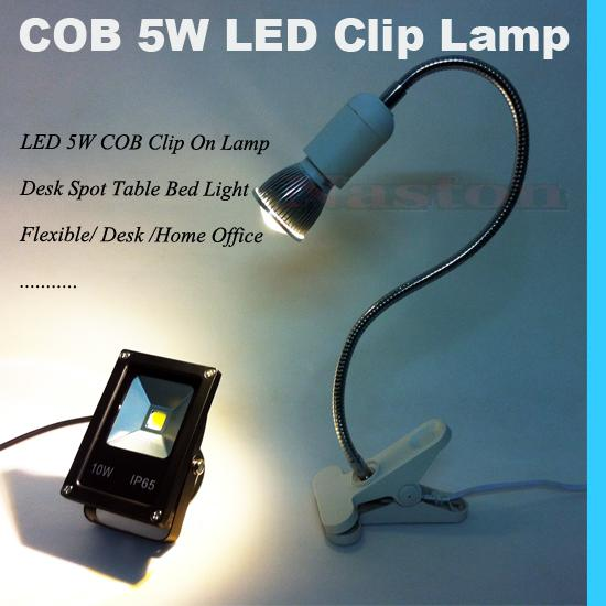 LED 5W COB Bright Clip Lamp Lampes de bureau Spot Light Flexible Desk Home Offic