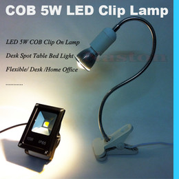 LED 5W COB Bright Clip Lamp Desk Spot Table Bed Light Flexible Desk Home office
