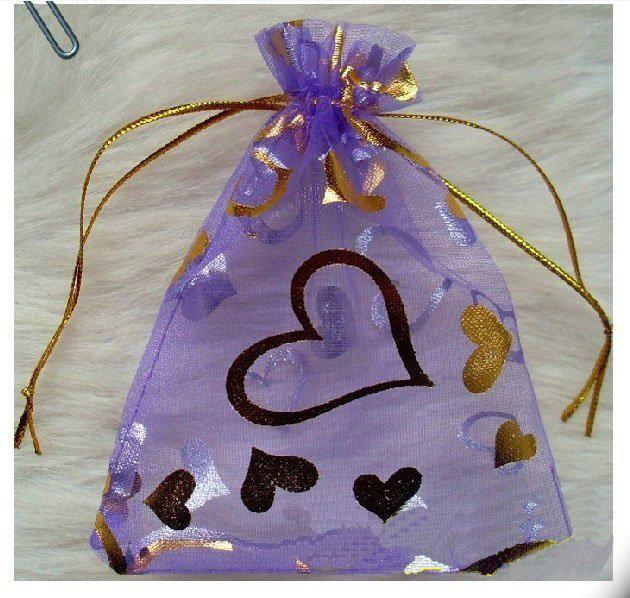 Wedding Gift Bags Card Factory : Gift Bags With Gold Heart Printed Wedding Favor Jewelry Pouchs Wedding ...