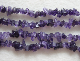 Wholesale Brand New x8mm Natural Amethyst Chips inch