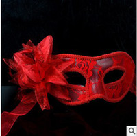 Wholesale Best selling Wedding Mask Venetian Lace Sexy Masquerade Party Mask equips flower colors tx82