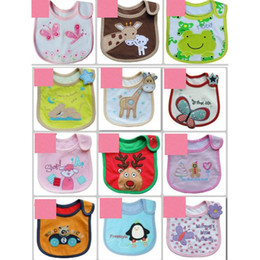 Wholesale Cotton Baby bib Infant saliva towels Baby Waterproof bib Baby wear styles Random delivery