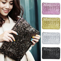 Wholesale Women Ladies Sparkling Bling Sequin Clutch Purse Evening Party Handbag Bag