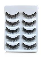 cosmetic eyelash - Hot Sale Sets Pairs Fascinating Long Natural False Eyelashes Hand Made Makeup Cosmetic Lashes H2000A