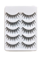 Wholesale Promotion Sets Pairs Black Fascinating Long Natural False Eyelashes Hand Made Makeup Cosmetic Extension Lashes H2004A