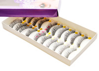 Wholesale Hotsale promotion Pairs long black Natural False Eyelashes Hand Made MakeUp Cosmetic extension lashes H2012A