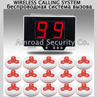 Wholesale 1set Restaurant coffee Bar LED Display Wireless Table Waiter Service Call Calling Paging System w Table Calling Button AT P