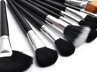 Wholesale Beautiful Professional Pro Black Luxurious High Quality Makeup Brush Set Cosmetic Goat Hair Brushes Kit With Bag H1145A