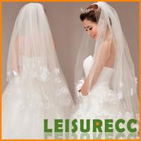 Wholesale Bridal veil petals wedding veil multilayer veil veil two layers HQ0187
