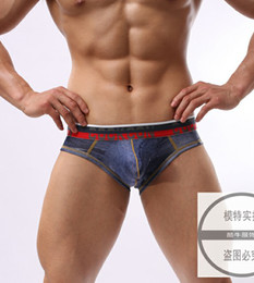 Wholesale Men s copy Jack Bulge Pouch Jeans cowboy Vintage Men s sexy underwear tight imitation jean briefs