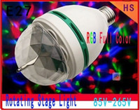 Wholesale Retail W E27 RGB lighting Full Color LED Crystal Stage Light Auto Rotating Stage Effect DJ lamp mini Stage Light Bulb