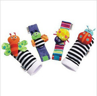 Wholesale New arrival baby rattle baby toys Lamaze plush Garden Bug Wrist Rattle and Foot Socks Styles