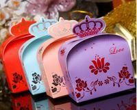 Favor Boxes Pink Paper elegant candy box wedding supplies creative joyful box Favor Holders
