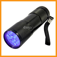 Flashlights LED 250 and Above 9 LED Mini Portable UV Violet Pocket Torch light Flashlight Camping light Aluminum Shell