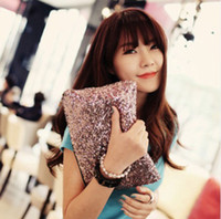 Wholesale Stylish Dazzling Glitter Sequins Spangle Handbag Party Evening Bag Wallet Purse