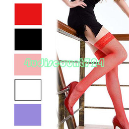 Wholesale EQ6101 Sexy Lace Top Fishnet Mesh Thigh High Stockings Tights Pantyhose Long Socks
