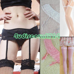 Wholesale EQ6124 Sexy Womens Lady Lace Top Garter Belt Fishnet Thigh High Stockings Tights Socks