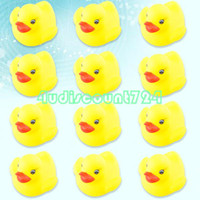Beach Toys Animes & Cartoons Baby EC0062 12pcs Funny Baby Child Bath Bathing Toys Squeaky Rubber Race Ducks Ducky Yellow