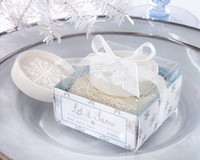 scented soap - 2013 fashion Romantic Let s Snowing snowflakes in the Nest Scented Soap with bowknot for wedding festival party Decoration