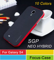 Wholesale Galaxy S4 i9500 SGP Case Spigen SGP NEO Hybrid Series Bumper Case For Samsung Galaxy S4 I9500 S IV Crazy Sale On Ebay Amazon