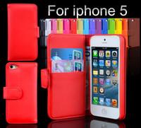 Cubierta de la caja caja de cuero de navidad casos de teléfono celular de la PU con la tarjeta de crédito ranuras para el iphone 5 5G iPhone5 DHL Shiping libre