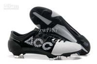 Wholesale 2013 GS Speed Concept Soccer Shoes Men athletic Football Cleats AAA Quality Cheap Best BLACK WHITE