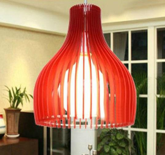 Red Acrylic Chandelier: New Modern Fashion Blue Red Orange Black White Green