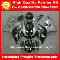 Wholesale Free gifts custom fairing kit for SUZUKI GSXR GSXR600 R750 K4 GSXR600 fairings G7u hot sale black gray motorcycle