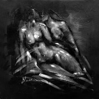Wholesale Modern Abstract Design Black and White Nude Woman Oil Painting Hand Painted Oil Painting on Canvas Wall Decoration Museum Quality Unframed