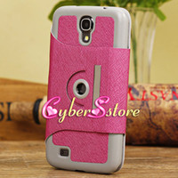 For Samsung Leather  20pcs 360 Degree Rotating Taiga Wallet PU Leather Stand Case Cover For Samsung Galaxy Mega 6.3 i9200