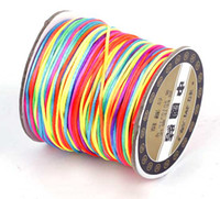 Wholesale 70M mm Colourful Chinese Knotting Nylon Cords Beading Strings for Shamballa Bracelet Threads Macrame Rattail Jewelry Findings DIY NF3