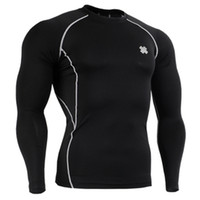 Wholesale No JSYCPDBL FIXGEAR Skin tight Compression Base Layer Shirt Training Workout Gym MMA Jersey T Shirt