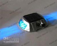 IP66 aluminium road stud - LLFA1120 Solar Gardening lighting solar aluminium signal lamp solar road stud LED Blue Bu