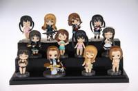 Wholesale k on figure toy Cute Anime K ON Mio Akiyama PVC figure toy Set in retail box EMS