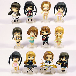 Wholesale k on figures Cute Anime K ON Mio Akiyama PVC figure toy Set in retail box
